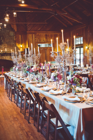 Purple Rustic Wedding Reception