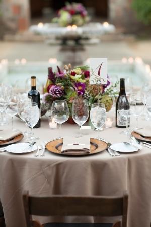 Purple Stone Wedding Reception