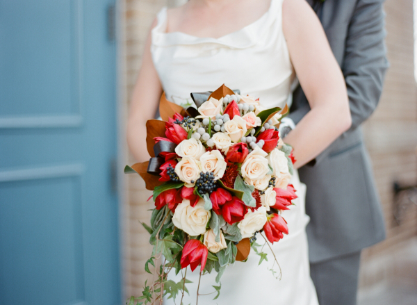 Red and Ivory Bouquet