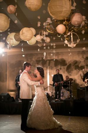 Romantic Dance Floor Paper Lanterns