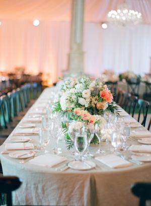 Romantic Peach and Green Wedding