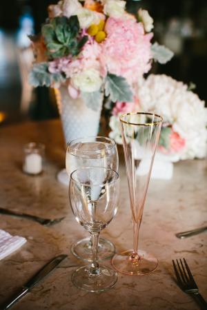 Rose Glass Champagne Flute