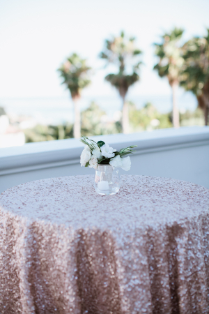 Rose Gold Glitter Tablecloth