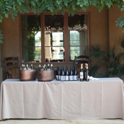 Rustic Drink Station at Wedding