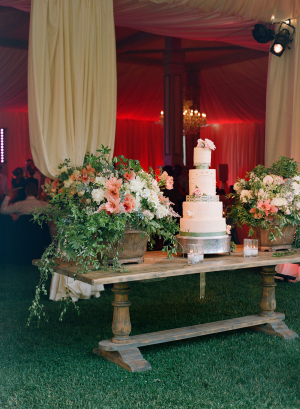 Rustic Elegant Cake Table