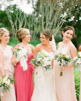 Shades of Pink Bridesmaids Dresses