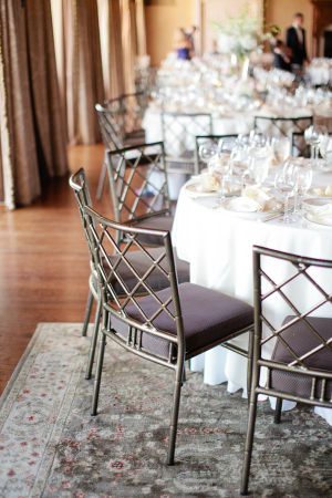 Silver Chairs Wedding