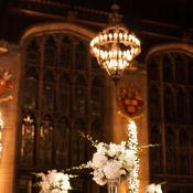 Silver White Ballroom Wedding