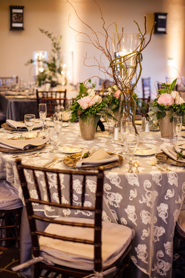 Silver and Green Tabletop