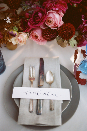 Simple Calligraphy Place Card