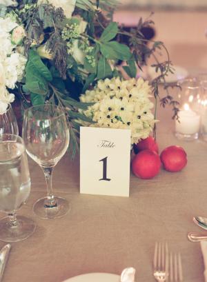Simple Printed Table Numbers
