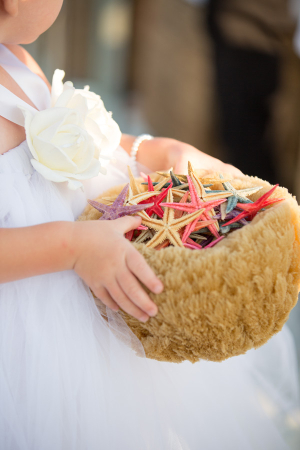 Starfish Flower Girl Basket