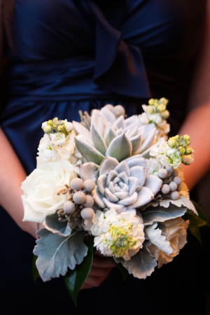 Succulent Dusty Miller Bouquet