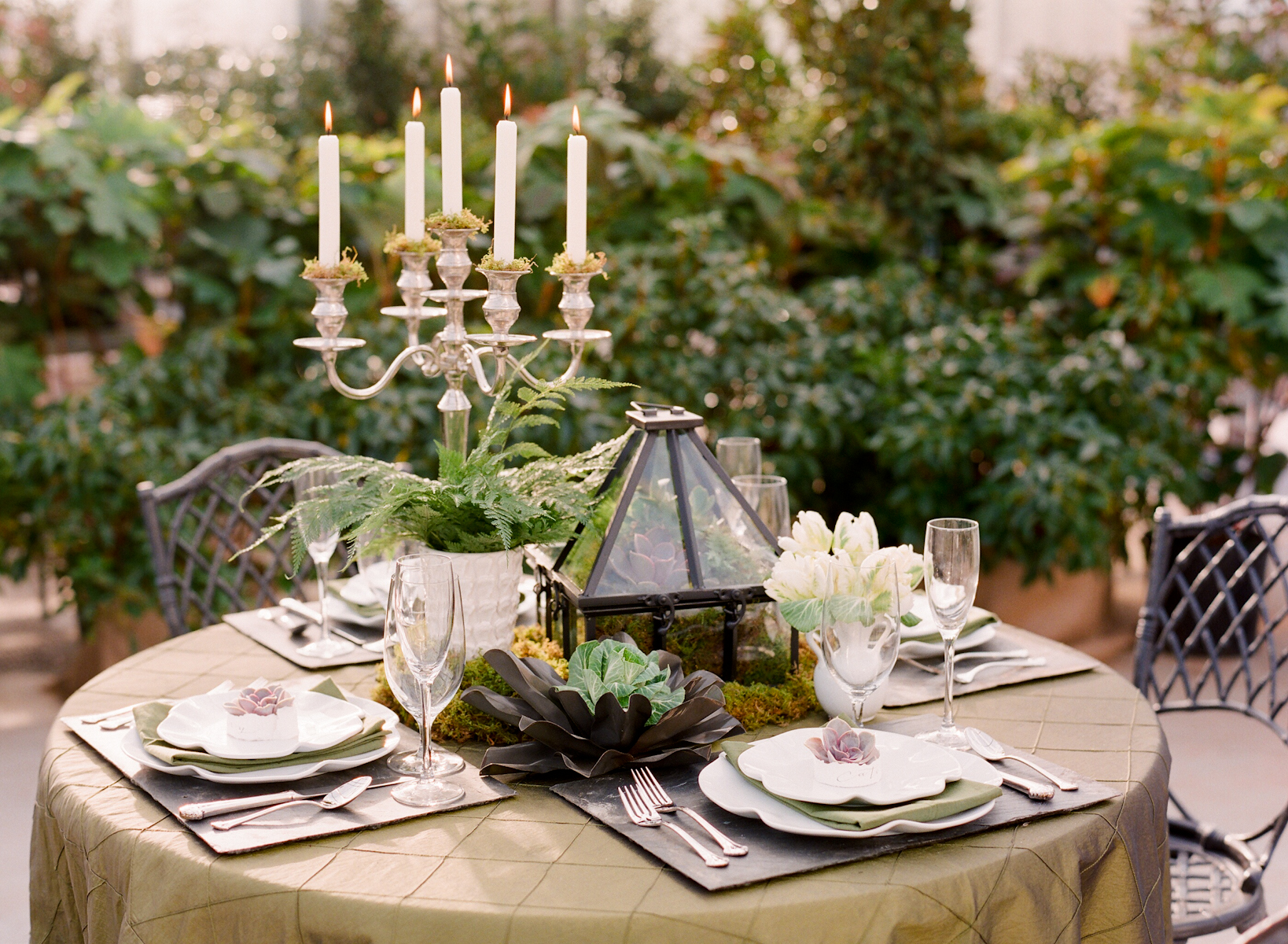 Succulent table decor wedding inspiration elizabeth anne for Table design for wedding