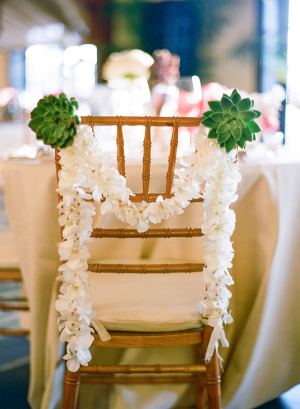 Succulent and Orchid Chair Garland