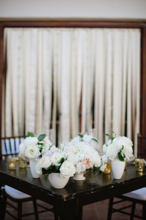 Sweetheart Table with White Centerpiece