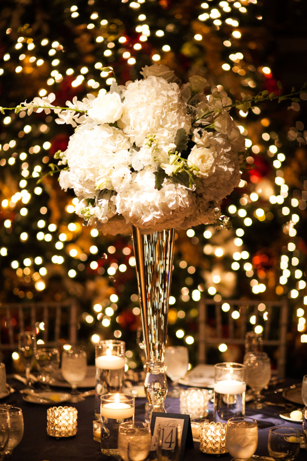 Tall white hydrangea centerpiece elizabeth anne designs