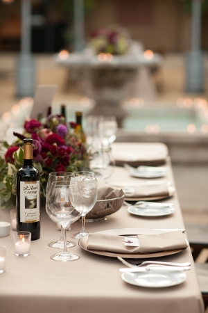 Taupe Wedding Linens