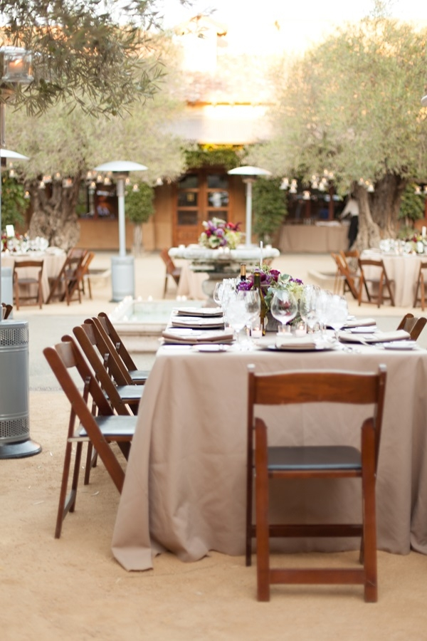 Taupe And Purple Wedding Reception