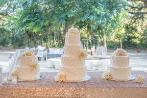 Three Cakes at Wedding