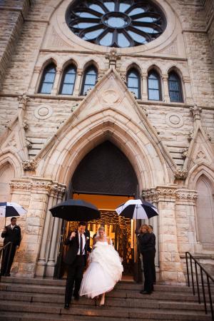 Umbrella Wedding Exit