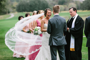 Veil Blowing During Ceremony