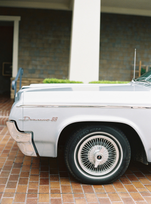 Vintage Car at Wedding