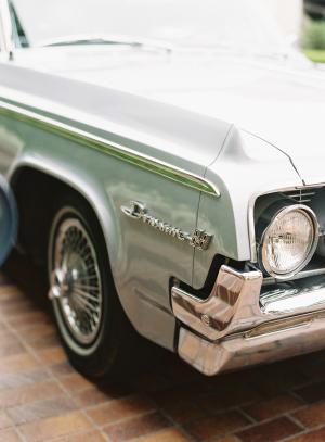 Vintage Mint Green Car
