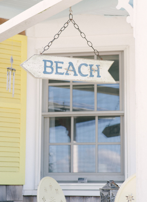 Weathered Beach Sign