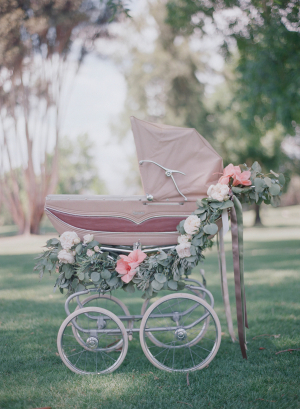 Wedding Carriage with Flowers