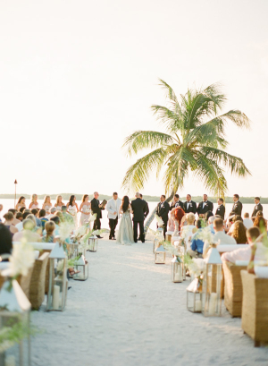 Wedding Ceremony Under Palm Trees