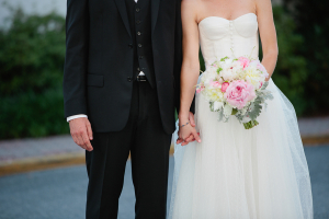 Wedding Gown with Button Bodice