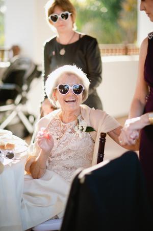Wedding Guest in Sunglass Favors