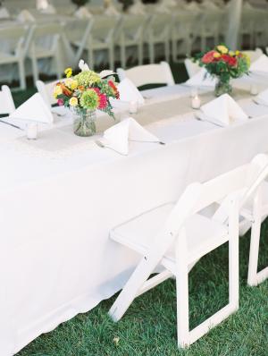 White Folding Chairs Reception Ideas
