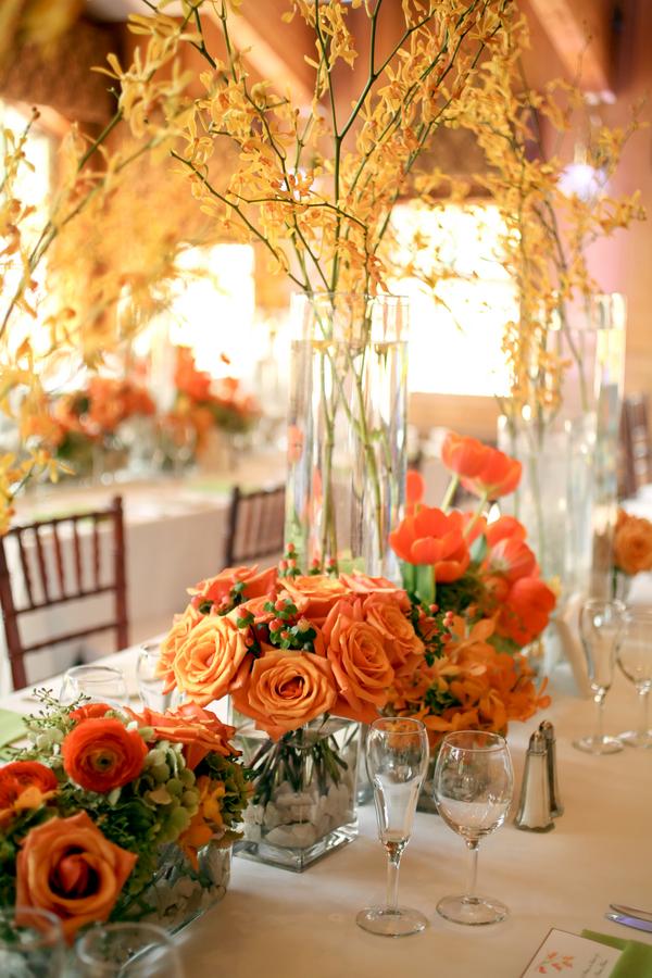 Yellow Orange and Green Reception Flowers - Elizabeth Anne Designs ...