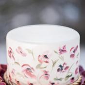 Airbrush Flowers on Wedding Cake