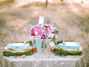 Aqua Gold Pink Tabletop