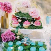 Aqua and Pink Dessert Table