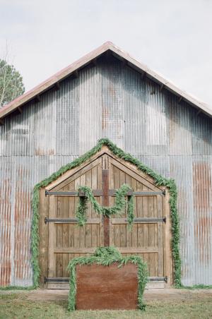 Barn with Greenery