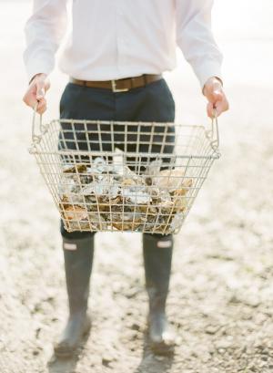Basket of Oyster Shells