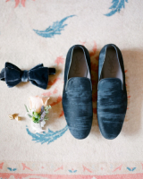 Blue Velvet Groom Accessories