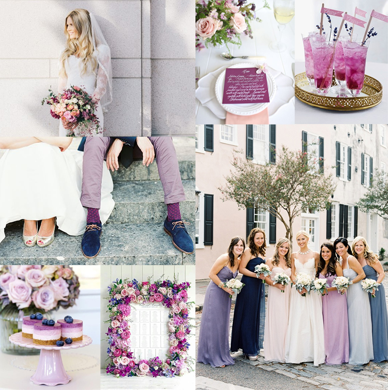 Blueberry Lavender Radiant Orchid Wedding Colors