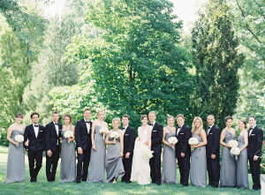 Bridal Party in Gray