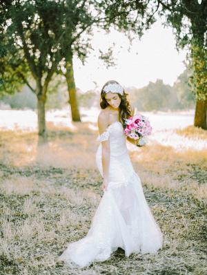 Bridal Portrait Under Trees
