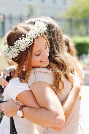 Bride Babys Breath Crown