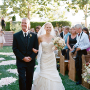 Bride and Father Outdoor Wedding