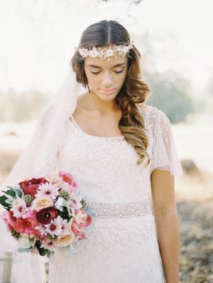 Bride and Fuchsia Bouquet