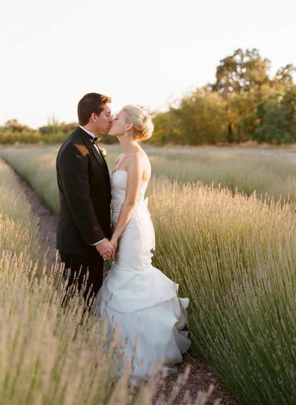 Bride and Groom Vineyard Wedding