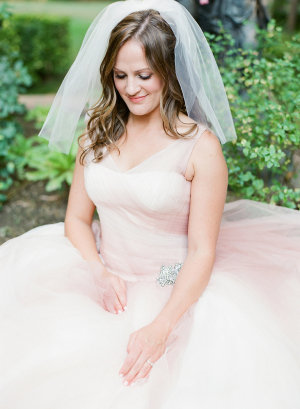 Bride in Blush Gown