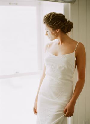 Bride in Casual Slip Dress